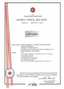 Ladyfalcon Marka Tescil Belgesi