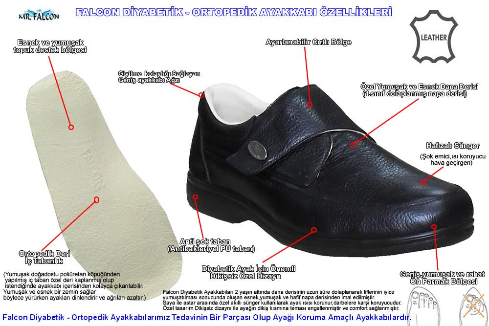 diyabetik erkek ayakkabi
