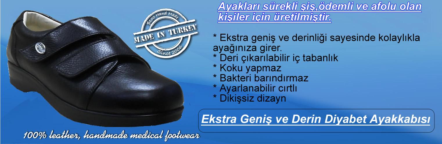 Ekstra Geniş ve Derin Diyabetik Ayakkabılar